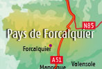 Campsites in the Forcalquier area