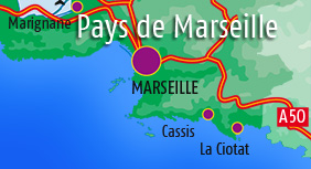 Holiday rentals in Marseille, Cassis and on the sea side
