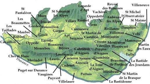 Carte du Luberon - Provence Web