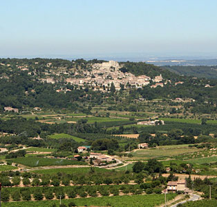 Luberon landscape. Lacoste view from Bonnieux