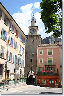 Castellane, clock tower