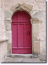 Clumanc, door of the church