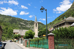 Jausiers, street in the village