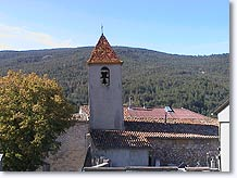 La Mure-Argens, bell tower and the village