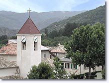 Mirabeau, village, bell tower and landscape