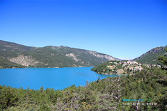 Saint Julien du Verdon, village on the Castillon Lake