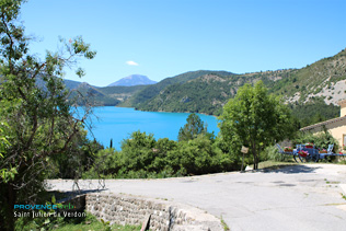 Saint Julien du Verdon, view on the Castillon Lake