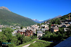 Briancon, view of the snowy peaks