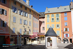 Briancon, small square in the old town