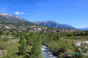 Embrun, the Durance river