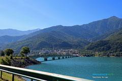 Lac Serre Poncon : Savines le lac serre poncon lake southern alps provence web
