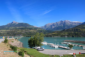 Savines le Lac, marina on Serre Poncon lake