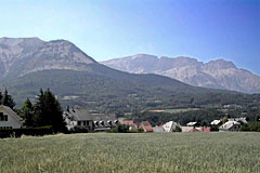 Saint-Bonnet en Champsaur, village in the moutain
