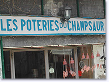 Champsaur potteries in Saint Bonnet
