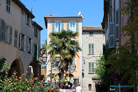 Biot - Square and palm tree