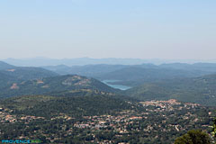Cabris, view on the Saint Cassien lake