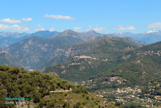 Carros village, view on the mountains