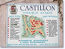 Castillon, map of the village