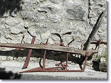 Chateauneuf d'Entraunes, old plow