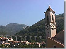 Escarene bell-tower and viaduct