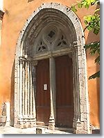 Grasse - Door of the church