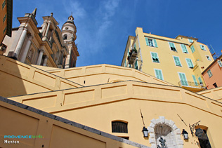 Menton, stairs to the old city