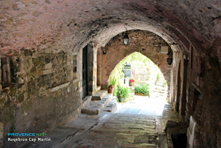 Roquebrune Cap Martin, vaulted passageway in the old village