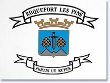 Roquefort les Pins, coat of arms
