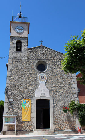 La Roquette sur Siagne, church