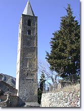 Saorge, Romanesque Lombardy style bell tower
