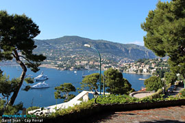 Saint Jean Cap Ferrat beach and Yachts