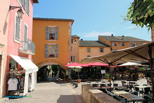 Valbonne - Hotel Les Armoiries and its terrace