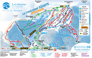 Ski runs of La Colmiane