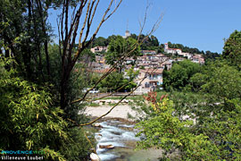 Villeneuve Loubet, village on the Loup river