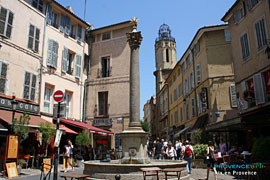 Aix en provence, square and fointain