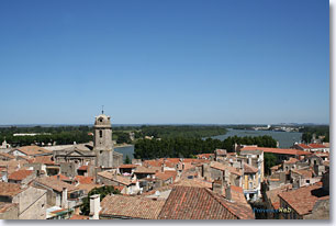 Arles, the Rhone river view from the arena