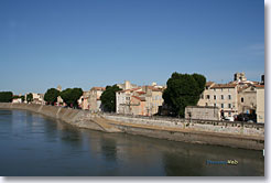 Arles, the banks of the Rhone river