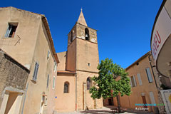 Aubagne, square and bell-tower in the Old Aubagne
