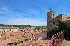 Istres, toits de la ville vus du belvédère de l'église Notre Dame de Beauvoir