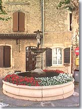 Lancon de Provence fountain