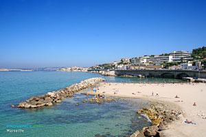 Marseille, plage