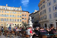 Marseille, terrasse de café