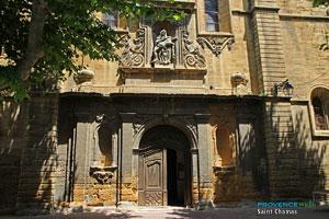 Saint Chamas, porte de l'église