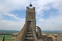 Chateauneuf de Mazenc, belfry of the chapel overlooking the plain