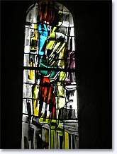 Chateauneuf de Mazenc, stained glass, click to enlarge