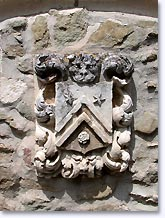 Chateauneuf de Mazenc, coat of arms engraved on a stone wall, click to enlarge