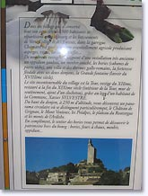 Chamaret, history of the village and of the keep. Click to enlarge.