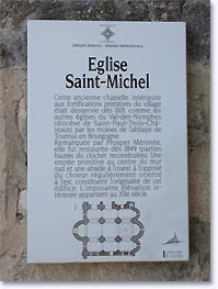La Garde Adhemar, history of the church Saint Michel, click to enlarge