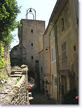 Montbrun les Bains, street up towards the campanile