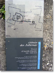Montelimar, plan and description of Chateau des Adhemar. Click to enlarge.